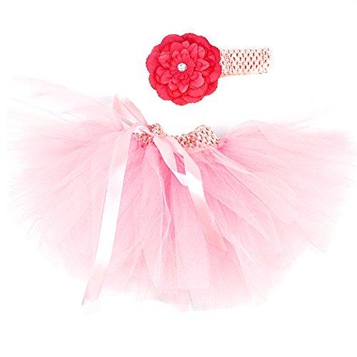 Honeystore Baby Fotoshooting Kostüm Haarbänder Rock Set Foto Outfit Stirnbänder Farbenfroh Tütü Balletrock Mini Unterrock Fotografie Verkleidung One Size Rosa-02 mit (Günstige Kostüme Junggesellinnenabschied)