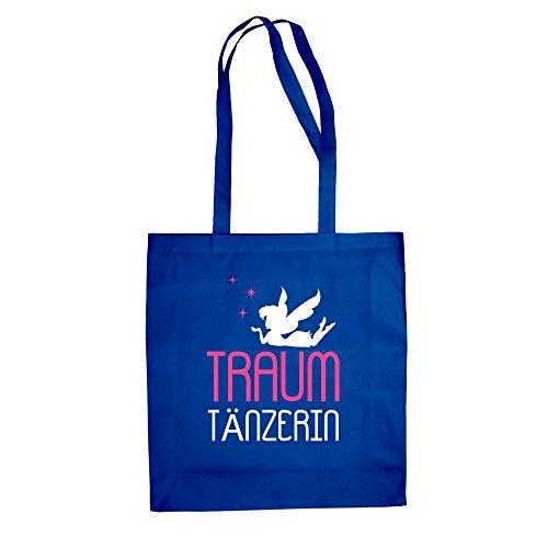 Traum Tänzerin - Baumwolltasche Jutebeutel royalblau-fuchsia