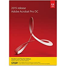 Adobe Acrobat Pro DC 2015 Student and Teacher [PC Download]