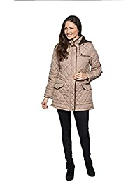 David Barry Womens Hooded Quilted Winter Jacket