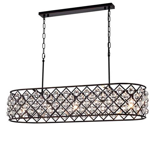 Industriell Pendelleuchtetraditionell E27 * 3 Eisen Pendellampe Oval Klar Kristall Dekorative Lampenschirm Hängeleuchte Vintage Innenbeleuchtung Angelschnur Kronleuchter Esstischlampe Wohnzimmerlampe -