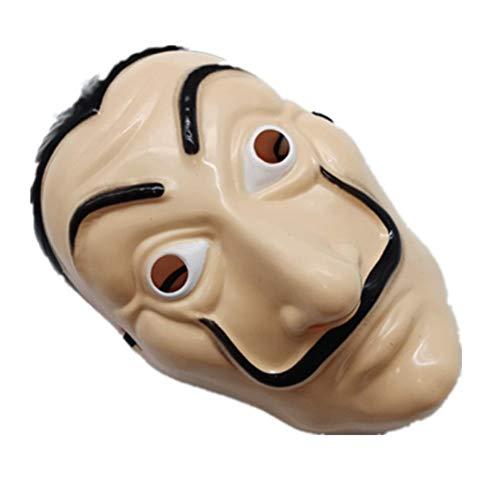 Halloween Funny - TOSSPER Dali Kunststoff Halloween-Maske Papierhaus La