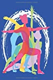 Notizbuch Yoga Diary Tagebuch blau: Umfangreiches Fitness Notizbuch 120 linierte Seiten Din A5...