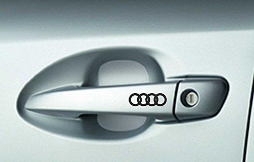 6 x AUDI Auto Maniglia Per Porta Decalcomanie Adesivi A3 A4 A6 Quattro Qualità Premium
