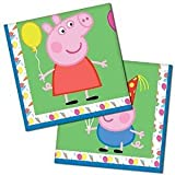 16 Peppa Pig Cute Carnival Birthday Party 33cm Disposable Paper Napkins