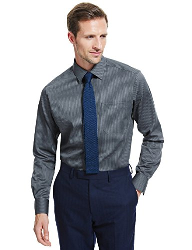 marks-and-spencer-camisa-formal-para-hombre-negro-gris-oscuro