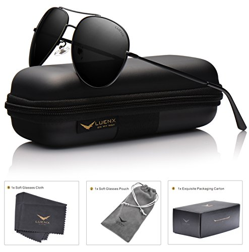 LUENX Mens Womens Sunglasses Polarized UV 400 Protection Classic Style