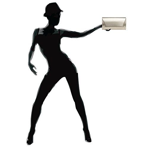 CASPAR TA410 Damen Metallic Envelope Baguette Clutch Tasche Abendtasche Champagner