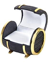 Velvet Ring Gift Box Christmas Jewellery Gift Case Barrel Shape