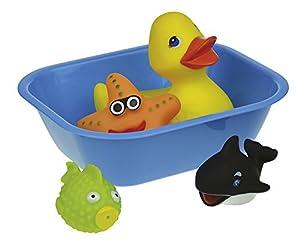 Happy People-40407de baño Animales en bañera, Color Azul/Amarillo