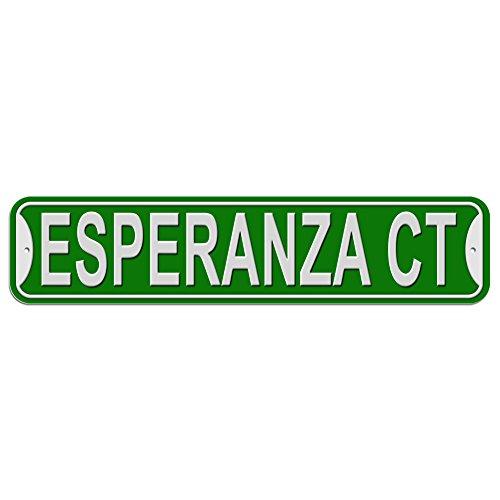 Esperanza Schild–Kunststoff Wand Tür Street Road weiblich Name, plastik, grün, Court