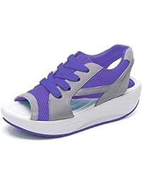 497ff99cac Amazon.es  Morado - Sandalias de vestir   Zapatos para mujer ...