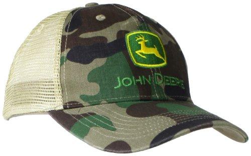 2b77063ecae John deere 0884457571845 Mens Camo Mesh Back Logo Core Baseball Cap Black  One Size- Price in India