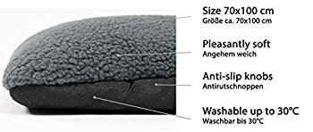 ZOLLNER Tapis pour Chien, 70x100 cm, Anthracite