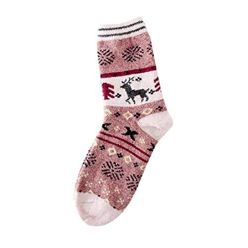 Barlingrock Womens Dicker Strick Warm Lässige Wolle Crew Winter Wolle Weihnachtssocken, Comfort Athletic No Show Laufsocken, Kissen Saugfähige Atmungsaktive Weiche Athletische Socken (Pack Socke Athletic-crew 6)