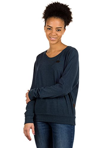 Naketano Female Sweatshirt Green Schmusi dirty dark blue melange