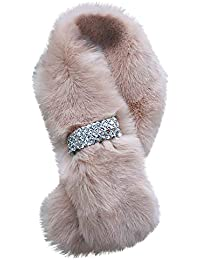 7d30b9cfc1c6 WUDUBE Mode Couleur unie Écharpe Femme, Fausse fourrure Cou L automne Hiver  Chaud Écharpes