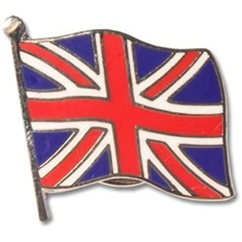 Union Jack Pin Badge Small Flag Design, Great Britian UK by Tradition