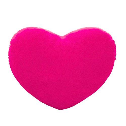 LANDUM Herzform Kissen, 20cm Herzform dekorative Dekokissen PP Baumwolle weiche kreative Puppe Liebhaber Geschenk - Hot Pink (Hot Dekorative Pink Kissen)
