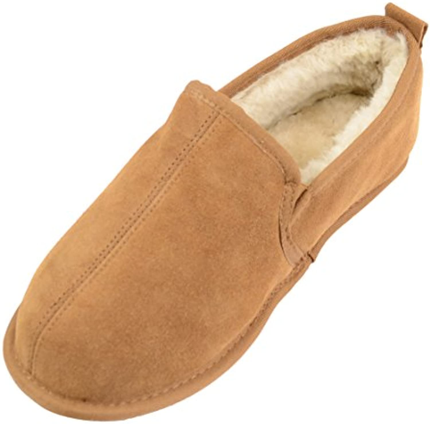 SNUGRUGS Sheepskin with Suede Sole, Zapatillas de Estar por Casa para Hombre -