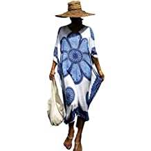 Ho Mall Bohemia Mujer Ropa de Baño Suelto Vestido de Playa Borla Verano Camisolas y Pareos