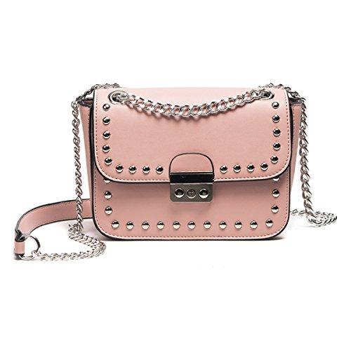 ZPFME Frauen Umhängetaschen Mode Heiß Kette Paket Schulter Party Party Pink