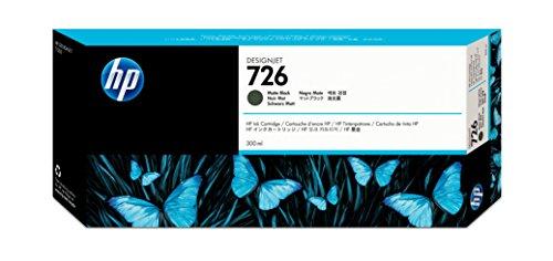 HP 726 Mattschwarz Original Druckerpatrone mit hoher Reichweite (300 ml) für HP DesignJet