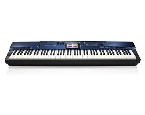 Casio-Privia-PX-560-MBE-Digitalpiano-88-Tasten-256-Stimmen-650-Klangfarben-Begleitautomatik-Recording-MIDI-USB-4-Band-EQ-Hey-Layer-inkl-SP-3-Pedal-Notenhalter-blau