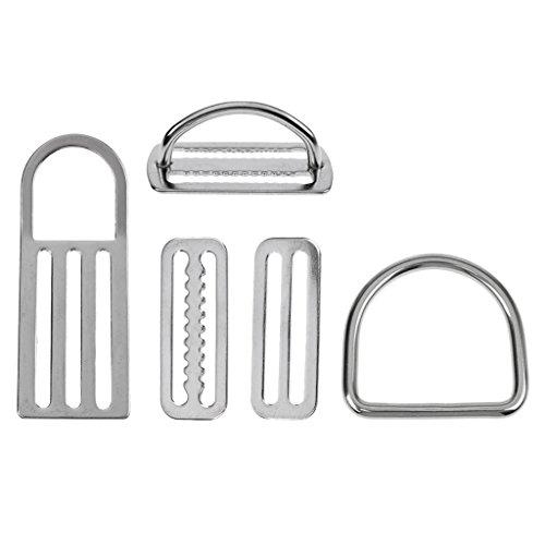Sharplace (5 Stück Packung) Tauchen Zubehör aus Edelstahl Gurtband Schnalle D Ring Tauchgewichte Bleigürtel Schnalle