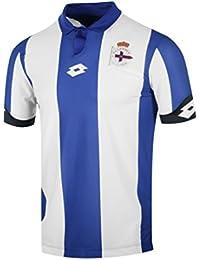 Lotto RC Deportivo De La Coruna Home 2016/2017 Camiseta, Hombre, Blue/