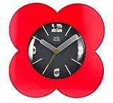 Spot Flower Alarm Clock, Red