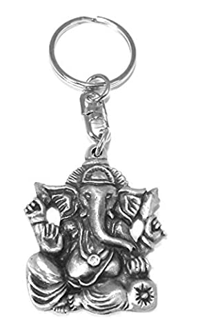 Zinn Ganesh Hindu Elefant Gott Schlüsselring - Piombo Portachiavi