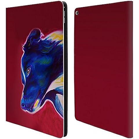 Ufficiale DawgArt Border Collie Cani 2 Cover a portafoglio in pelle per Apple iPad Pro 12.9