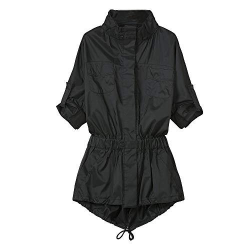 Femme Coupe-Vent Blousons Manteau Veste À Capuche Longues Robes, QinMM Coupe Slim Mince Manches Longues Section Moyenne Longue Jacket Ceinture Taille Haute Grande Taille