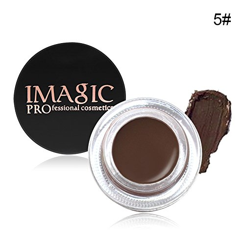 Waterproof Brows Gel, KISSION 6 Couleurs Naturelle Gel a Sourcils Creme Impermeable Teinture pour Sourcils Beaute Maquillage(DARK BROWN)