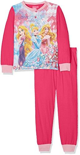 Disney principesse, pigiama bambina, rosa (fushy), 122 (taglia produttore:7 anni)