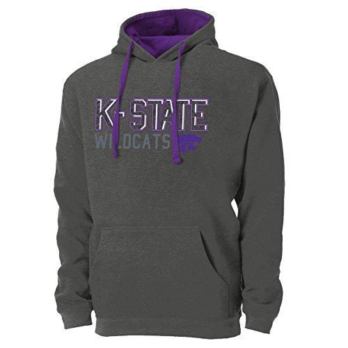 Ouray Sportswear NCAA Kansas State Wildcats Herren NCAA Newcastle Arch Colorblock Pullover Hoodie, Herren, Graphite/Purple Colorblock Pullover Hoody