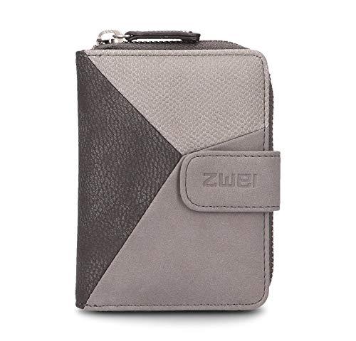 Zwei Jana J1 kleine Geldbörse Portemonnaie Geldbeutel Brieftasche, Farbe:Nubuk Stone