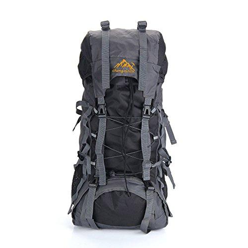 Docooler 55L im Freien Sport Rucksack Wandern Trekking Bag Camping Reisen wasserdicht Pack Bergsteigen Klettern Ranzen (Interne Frame 55 Rucksack)