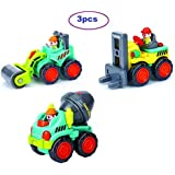 Blossom 3 Pcs Truck Set Mini Construction Vehicle Cars- Forklift,Road Roller,Cement Mixer Toy For Boy / Mini Engineering Car Tractor Toy/ Model Toy For Children / Truck Set 3 PCS/ Construction Set