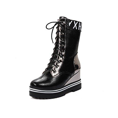 Guoar , chaussures compensées femme Schawarz