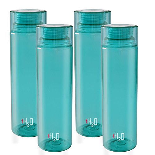 Cello H2O Fridge Bottle Set of 4, 1000ml, Green