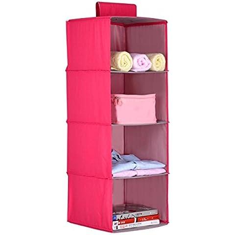 Armadio Sospensione multistrato di archiviazione Borsa Porta posteriore di immagazzinaggio Borsa Wall - Hanging Cloth ( colore : Rosso )
