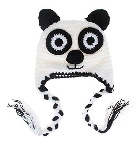 GEMVIE Baby Strickmütze Fotografie Prop Kostüm Kappe Kopf 47cm (Kopf Kostüme Panda)