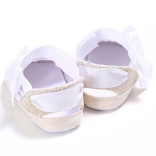 Niedliche Bowknot-Baby-Sommer-Schuhe Kleinkind-Prinzessin erste Wanderer-Sandale Weiß