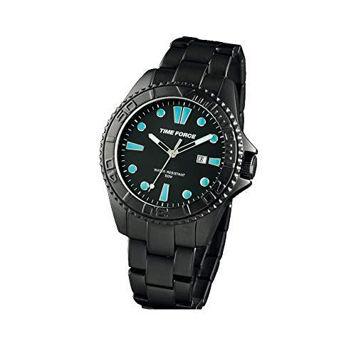 Time Force Reloj Analógico para Hombre de Cuarzo con Correa en Acero Inoxidable TF4190M13M