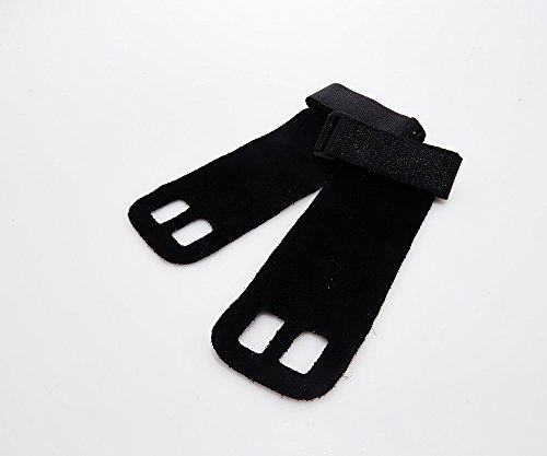 Suprfit Gymnastic Grips | Gymnastik Handschuh | Turn Riemchen | Hand Schutz | Crossfit Turnen Fitness WOD | Leder | Schwarz, Weiß oder Blau | XS bis XL