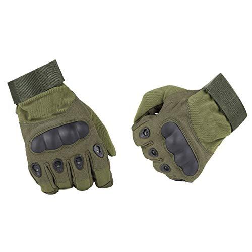 Lorenlli Guantes tácticos Ejército de Paintball Airsoft Deportes al Aire Libre Disparos Policía Carbon Hard Knuckle Full Finger Guantes