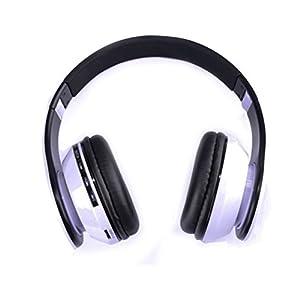 Healifty AT-BT809 Faltbarer Drahtloser Bluetooth-Stereo-Kopfhörer mit Mikrofon/FM / TF-Karte (Schwarz + Weiß)