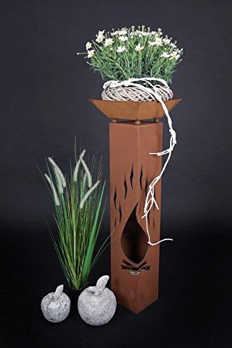 Jabo Design Rost Säule RS76 Gartensäulen Blumensäule Fackel Gartendeko Deko